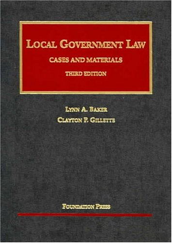 Local Government Law Cases and Materials 3rd 2004 edition cover