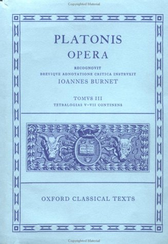 Platonis Opera  N/A 9780198145424 Front Cover