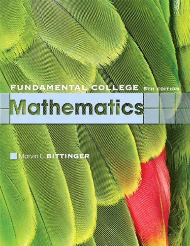 Fundamental College Mathematics  5th 2010 9780321613424 Front Cover