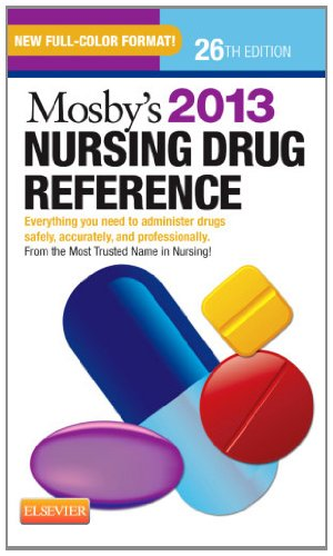 Mosby's 2013 Nursing Drug Reference  26th 2012 edition cover