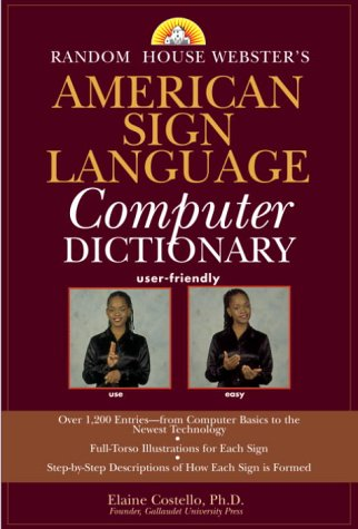 Random House Webster's American Sign Language Computer Dictionary  2001 edition cover