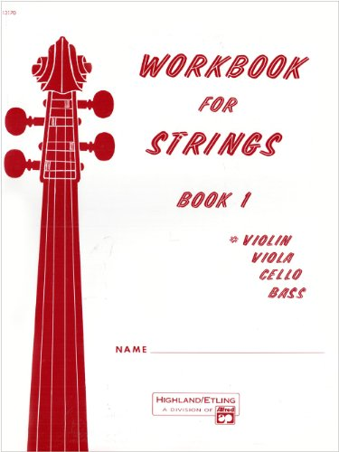 Workbook for Strings, Violin   1990 edition cover
