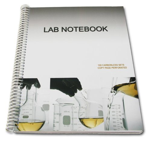 Lab Notebook Spiral Bound 100 Carbonless Pages (Copy Page Perforated) Carbonless Pages-Copy Page Perforated  2010 9780978534424 Front Cover