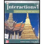 Interactions Level 1 Listening/Speaking Student Book  5th 2004 (Revised) 9780073337425 Front Cover