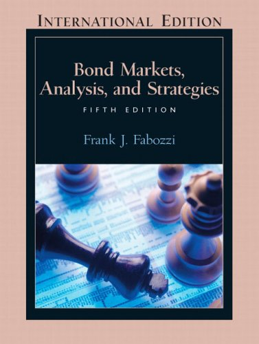 Bond Markets: Analysis and Strategies N/A edition cover