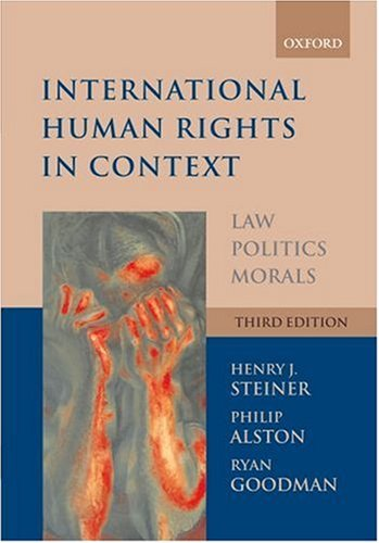 International Human Rights in Context Law, Politics, Morals 3rd 2006 (Revised) edition cover
