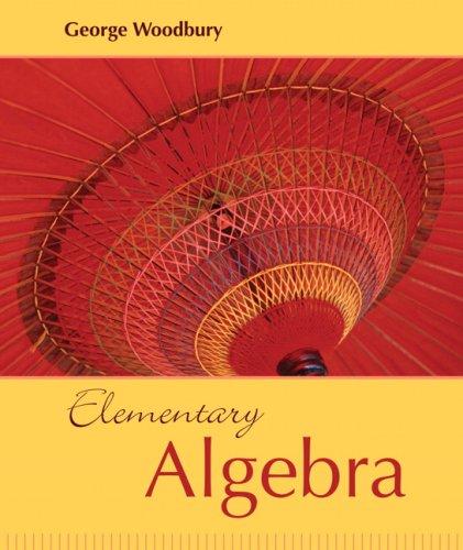 Elementary Algebra   2009 edition cover