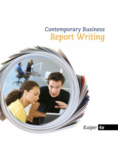 Contemporary Business Reports  4th 2010 edition cover