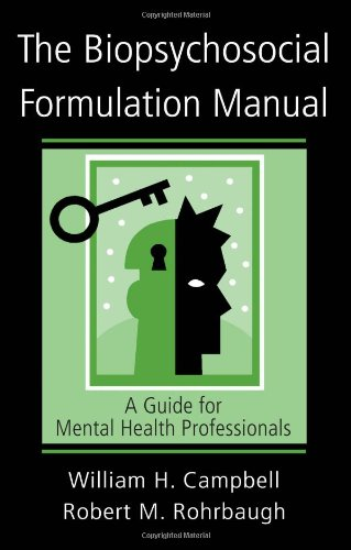 Biopsychosocial Formulation Manual A Guide for Mental Health Professionals  2006 edition cover
