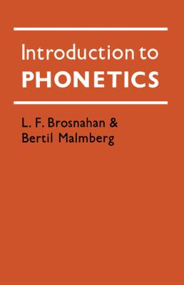 Introduction to Phonetics  N/A 9780521290425 Front Cover