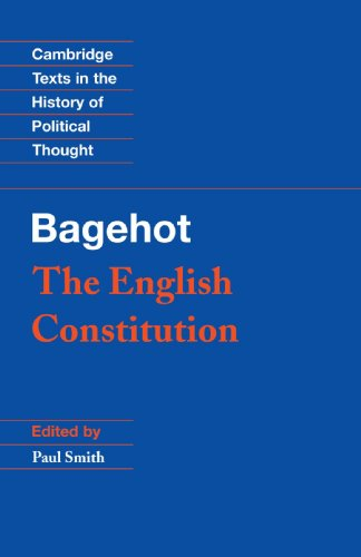 Bagehot The English Constitution  2001 edition cover