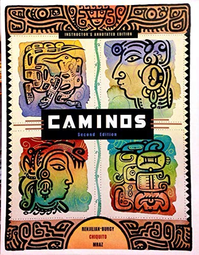 CAMINOS -TEXT >INSTRS.ANNOT.ED N/A 9780618112425 Front Cover