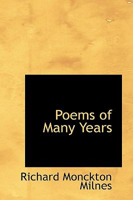Poems of Many Years N/A 9781115964425 Front Cover