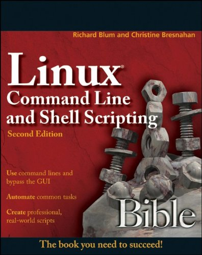 Linux Command Line and Shell Scripting Bible  2nd 2011 edition cover