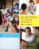 An Invitation to Social Research: How It's Done  2014 9781285746425 Front Cover