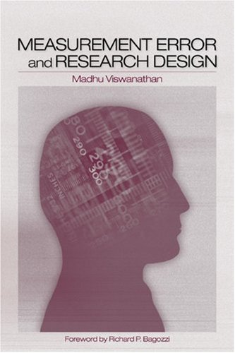 Measurement Error and Research Design   2005 edition cover