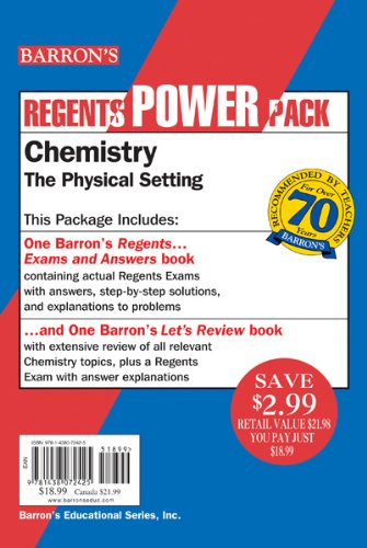 Chemistry The Physical Setting Power Pack 5th 2017 edition cover