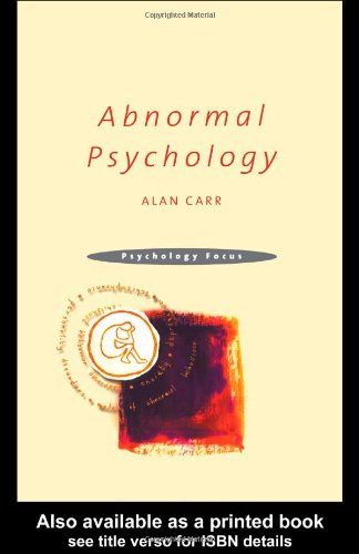 Abnormal Psychology   2001 edition cover