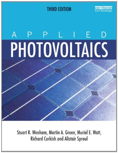 Applied Photovoltaics  3rd 2012 (Revised) edition cover