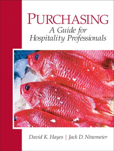 Purchasing A Guide for Hospitality Professionals  2010 edition cover