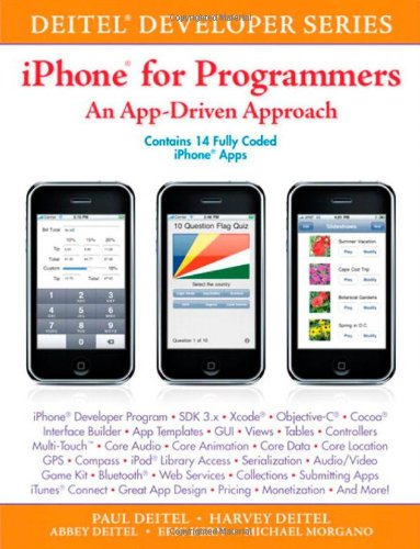 IPhone for Programmers An App-Driven Approach  2010 edition cover