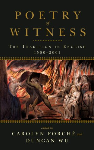 Poetry of Witness The Tradition in English, 1500-2001  2014 edition cover