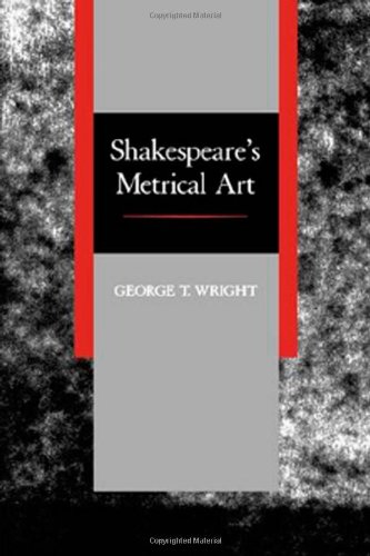 Shakespeare's Metrical Art   1988 (Reprint) edition cover