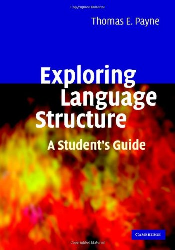 Exploring Language Structure   2006 (Student Manual, Study Guide, etc.) 9780521855426 Front Cover