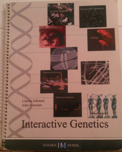 INTERACTIVE GENETICS-W/CD 1st 9780738004426 Front Cover