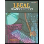 Legal Transcription  2nd 9780763837426 Front Cover