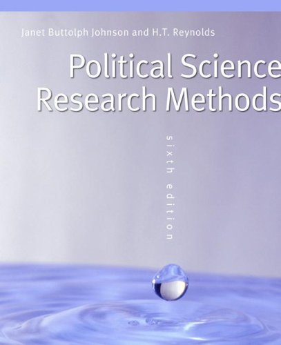 Political Science Research Methods  6th 2006 (Revised) edition cover