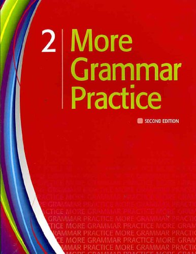 More Grammar Practice 2  2nd 2011 (Student Manual, Study Guide, etc.) 9781111220426 Front Cover