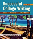 Successful College Writing Skills, Strategies, Learning Styles 6th 2015 edition cover
