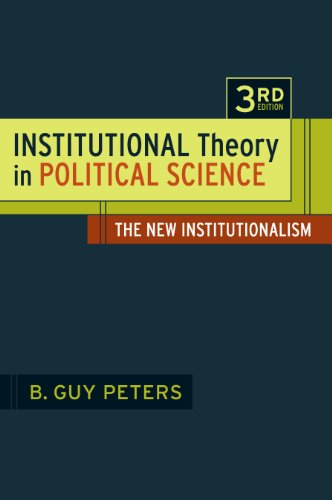 Institutional Theory in Political Science The New Institutionalism 3rd 2011 edition cover