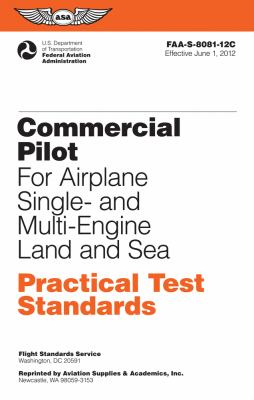 Commercial Pilot for Airplane Single- And Multi-Engine Land and Sea  N/A edition cover