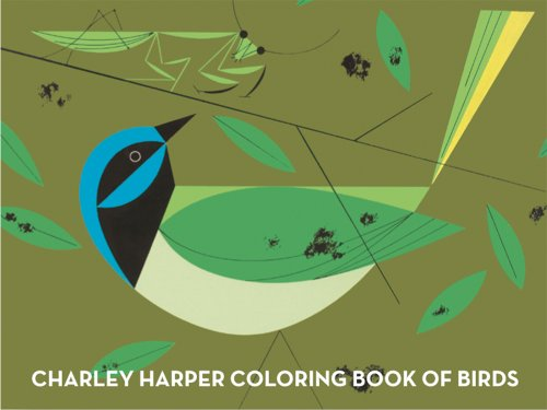 Charley Harper Coloring Book of Birds  N/A 9781934429426 Front Cover