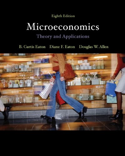 Microeconomics Theory with Applications 8th 2012 9780132142427 Front Cover