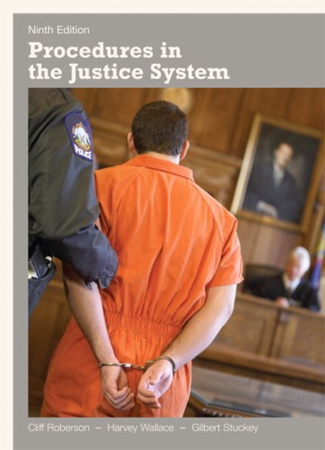 Procedures in the Justice System  9th 2010 edition cover
