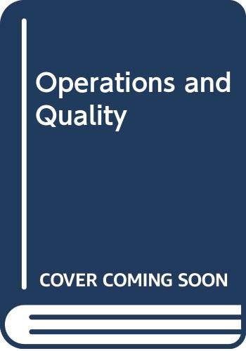 Operations Management 3rd (Student Manual, Study Guide, etc.) 9780314063427 Front Cover