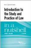 Introduction to the Study and Practice of Law in a Nutshell, 6th  6th 2014 (Revised) edition cover