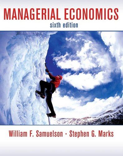 Managerial Economics  6th 2009 edition cover