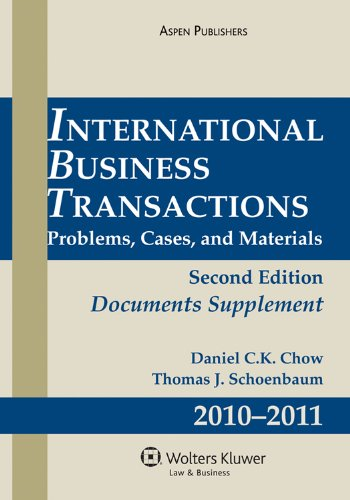 International Business Transactions 2009 Supplement  2nd 2010 edition cover