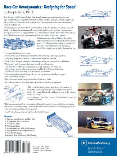 Race Car Aerodynamics Designing for Speed 2nd 2006 edition cover