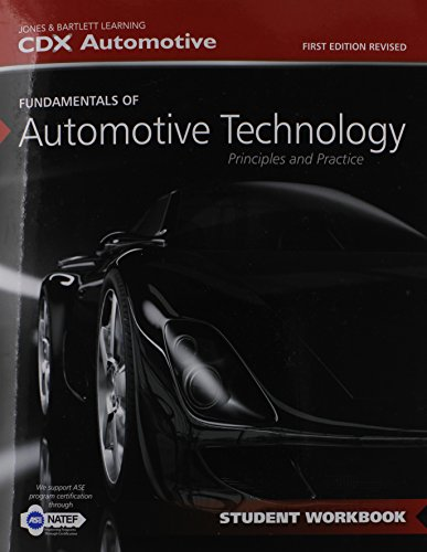 Fundamentals of Automotive Technology Student Workbook   2015 edition cover