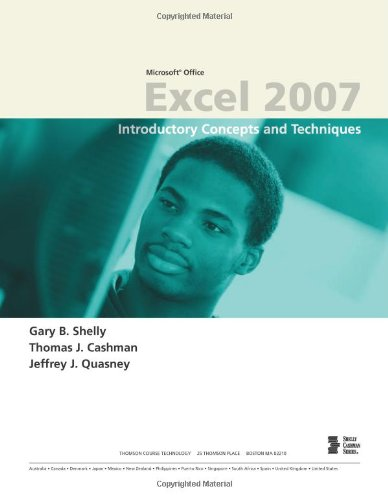 Microsoft Office Excel 2007 Introductory Concepts and Techniques  2008 edition cover