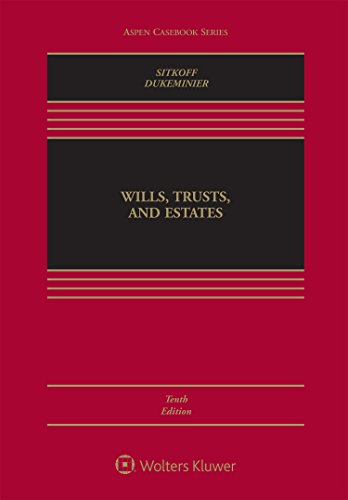 Wills, Trusts, and Estates:   2017 9781454876427 Front Cover