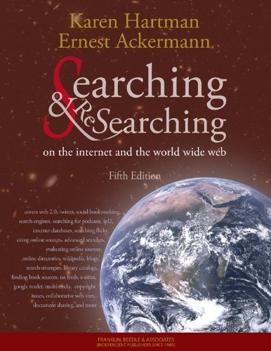 Searching and Researching on the Internet and the World Wide Web  5th 2010 edition cover