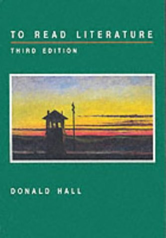 To Read Literature  3rd 1992 edition cover
