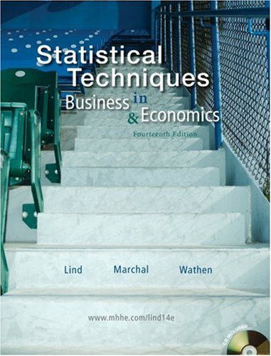 Statistical Techniques in Business and Economics with Student CD 14th 2010 edition cover