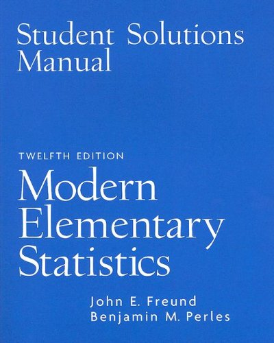 Modern Elementary Statistics  12th 2007 edition cover